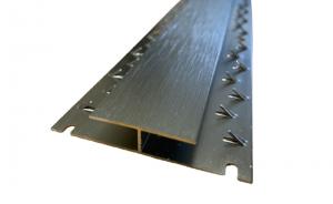 Gripperods Premium Carpet Metals Brushed Steel Nickel Dual Edge